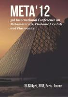 Cover for Proceedings of META'12, The 3th International Conference on Metamaterials, Photonic Crystals and Plasmonics