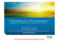 Cover for A Vivaldi Antenna For UWB Communication: Design, Modelling and Analysis of Vivaldi Antenna with Genetic Algorithm