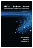 Cover for Proceedings of META'17, The 8th International Conference on Metamaterials, Photonic Crystals and Plasmonics