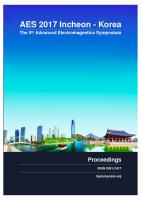 Cover for Proceedings of AES 2017, the 5th Advanced Electromagnetics Symposium