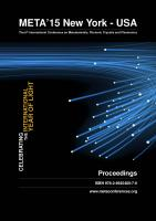 Cover for Proceedings of META'15, The 6th International Conference on Metamaterials, Photonic Crystals and Plasmonics