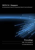Cover for Proceedings of META'14, The 5th International Conference on Metamaterials, Photonic Crystals and Plasmonics