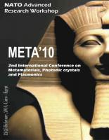 Cover for Proceedings of META'10, The 2nd International Conference on Metamaterials, Photonic Crystals and Plasmonics