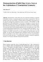 Cover for Homogenization of Split-Ring Arrays, Seen as the Exploitation of Translational Symmetry